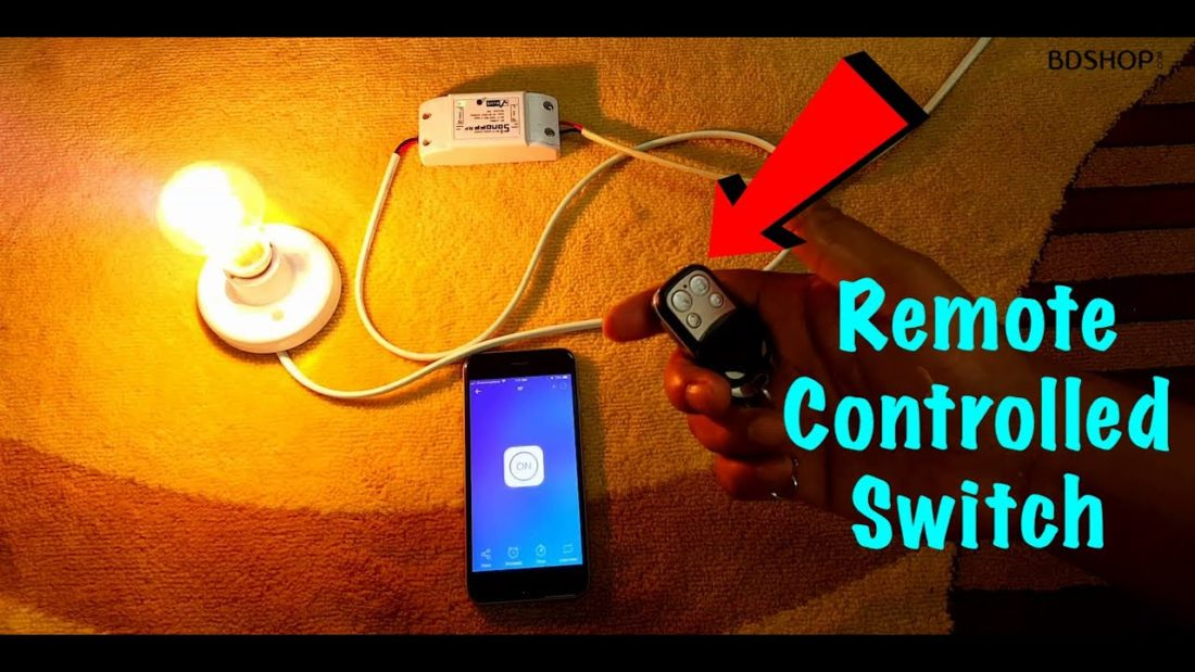 Remote + WiFi Control Smart Switch in Bangladesh